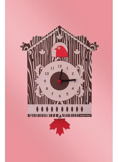Peoples Clock Guguk Kuşu Sallanan Sarkaçlı Çocuk Odası Duvar Saati Renkli
